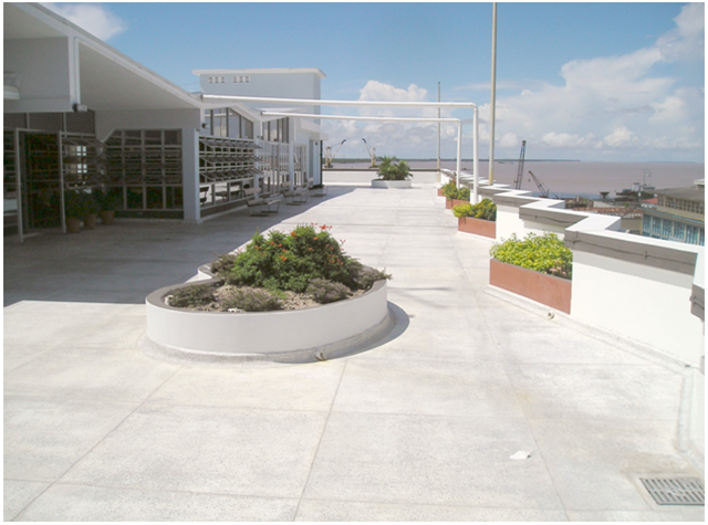 Central Bank of Guyana Roof Terrace